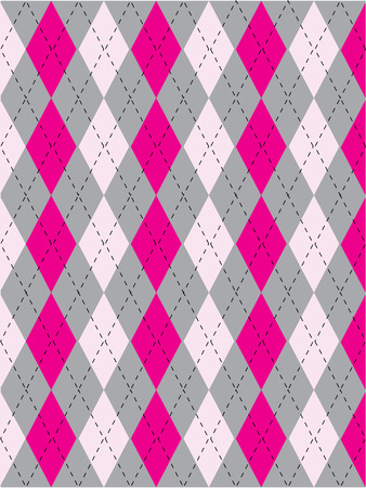 studious: female argyle pattern Illustration