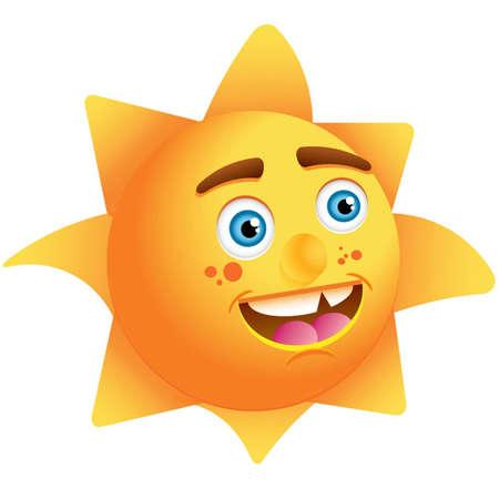 The Happy Sun Illustration