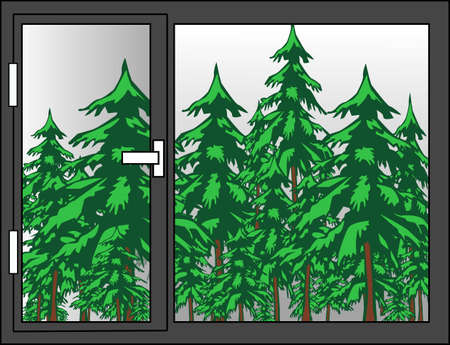 View of the forest Vector