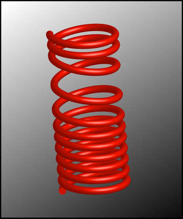 coil springs: Red spring