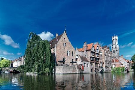 Belgium,old Brugge canal Stock Photo - 12093015