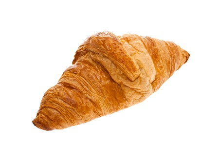 Croissant was shot in the studio on a white background