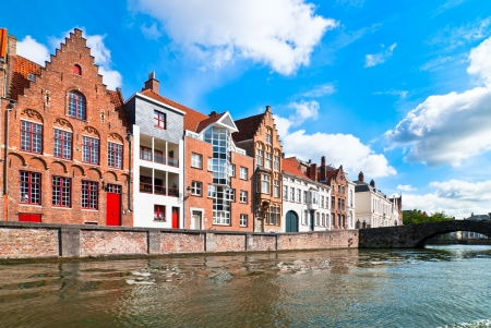 Bruges, the central part of the old city Stock Photo - 14177404
