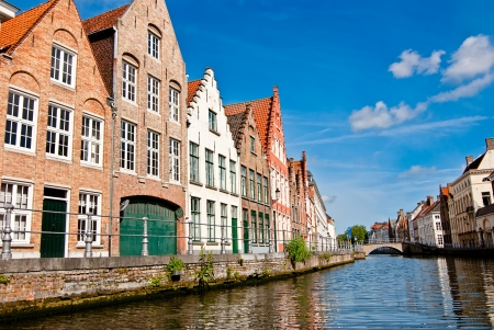 Bruges. Belgium. Walk through the old town. Stock Photo