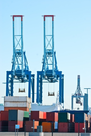 Port. Unloading of containers. Helsinki. Finland. Stock Photo