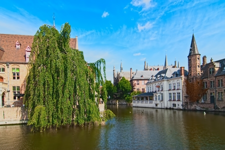 Belgium  Bruges, the old town  View of the embankment