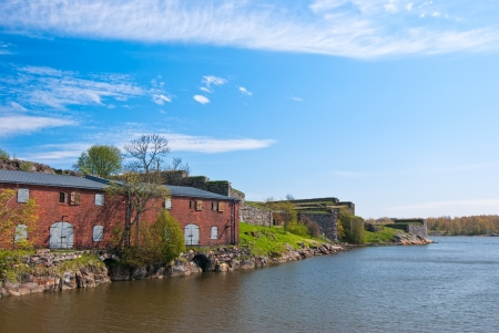 Fortress of Suomenlinna  Colorful view the bay  photo