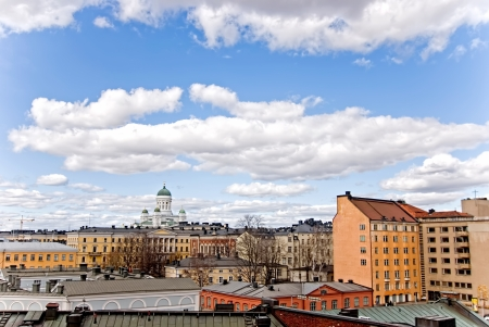 Urban landscape of the city of Helsinki  Finland