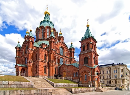 Uspensky Cathedral in Helsinki  Finland  Tourist destination  photo