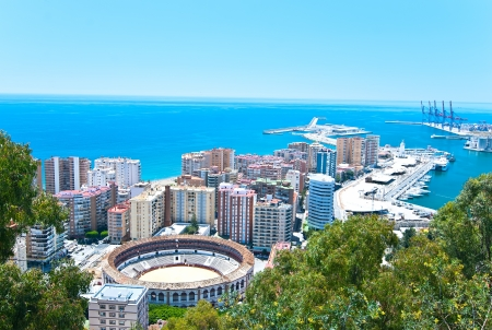 malaga: City view from the fortress of Malaga  Spain