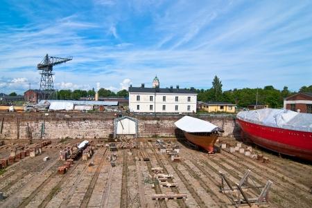 Dry dok Ostrov fortress Suomenlinna  Finland  photo