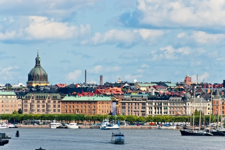Stockholm vue panoramique sur la vieille ville de Su�de photo