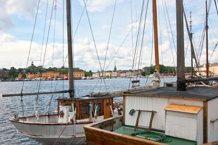 Stockholm waterfront view from the old town  Sweden  photo