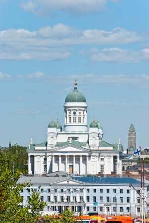 Helsinki. Nice view of the central part of the city. photo