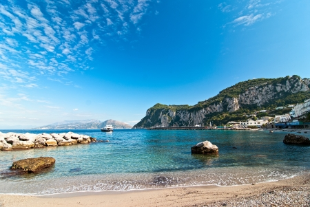 Seascape shot on the island of Capri  Italy  photo