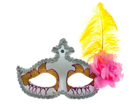 Carnival mask shot in studio on a white background  photo
