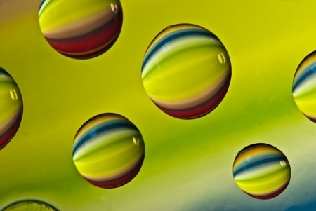 macro photography: Multi-colored drops of water  Macro photography in the studio  Stock Photo