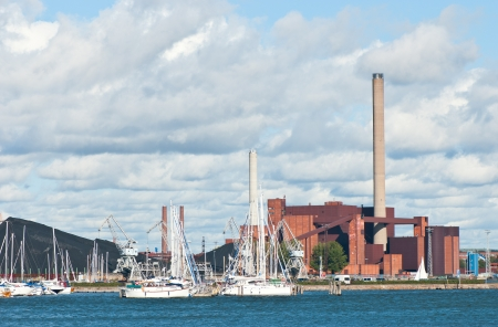 Powerhouse of Helsinki view from the sea  Finland  에디토리얼