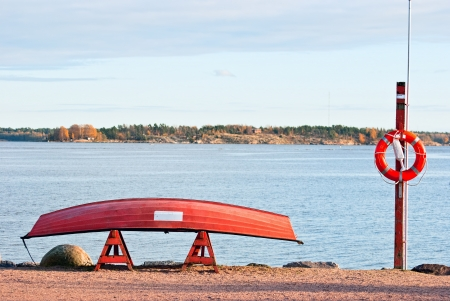 Rescue boat on the Gulf of Finland. Helsinki. Stock Photo - 15952465