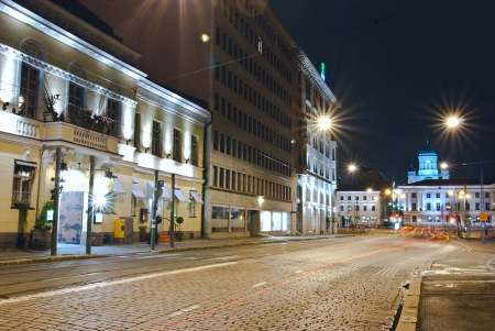 Night photos of Helsinki. Finland. Shot on a long exposure.