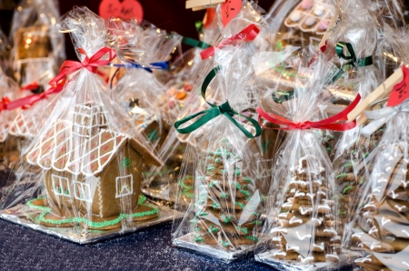 Christmas cookies in the house of the holiday package  photo