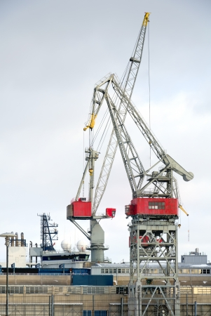 Port cranes at the shipyard in Helsinki  Finland Stock Photo - 17627134