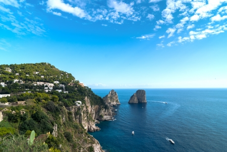 Beautiful view of the bay  Capri, Italy  Stock Photo