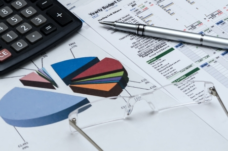 Business background, financial data concept  스톡 사진