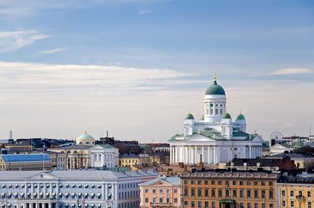 Финляндия: Вид на город из Хельсинки, Финляндия