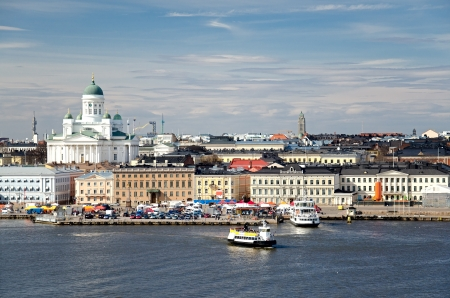 View of the city of Helsinki. Finland. Stock Photo