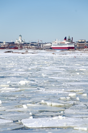 Helsinki winter, panoramic view  Finland  photo