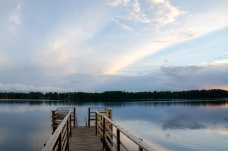 Lake shore. Summer landscape. Finland.