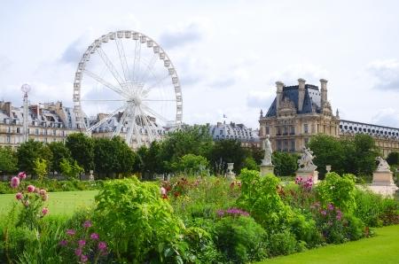 místo: Tuileries Garden Side, Paříž, Francie Reklamní fotografie