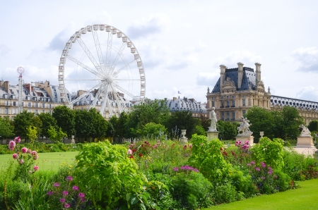 Tuileries garden side, Paris, France Stock Photo