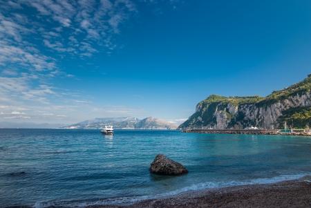 바다는 카프리 섬에서 촬영. 이탈리아.