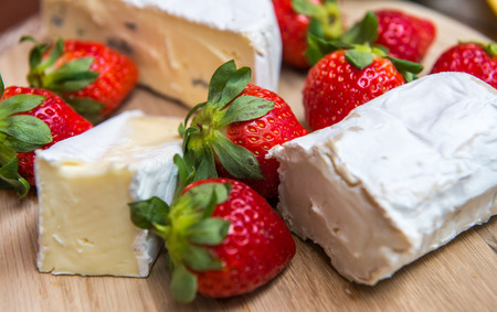 Cheese Plate with Strawberries,France