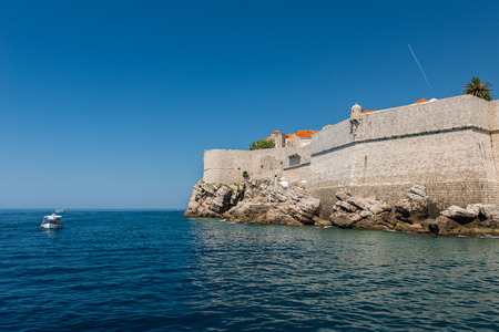 Old town and city walls. Dubrovnik, Croatia