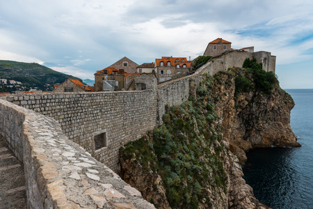 City walls in Dubrovnik, Dalmatia, Croatia Stock Photo