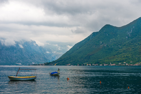 Boat on the sea, Perast, Montenegro.
