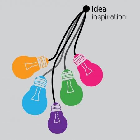 icônes d'ampoules d'idée Vecteurs