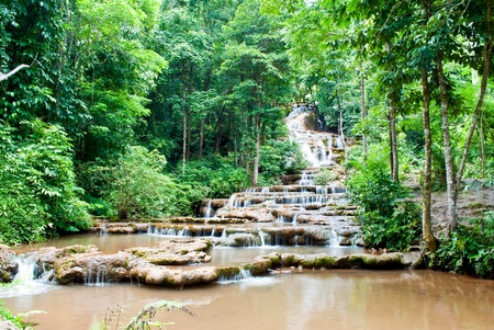 Pa Charoen Waterfall in Thailand photo