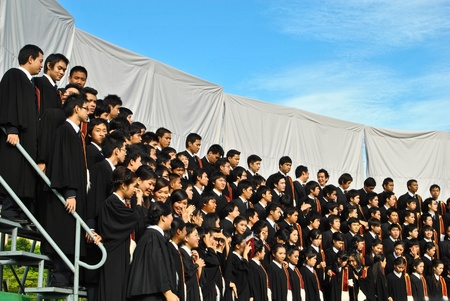 University graduation at Thammasat University ,Thailand
