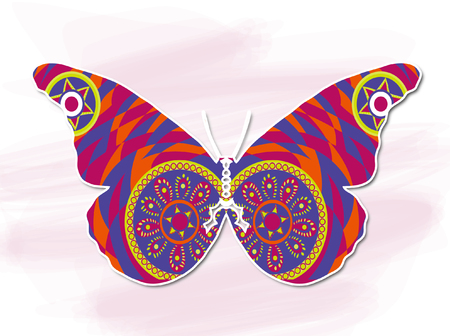 abstracted: Purple Butterfly Illustration