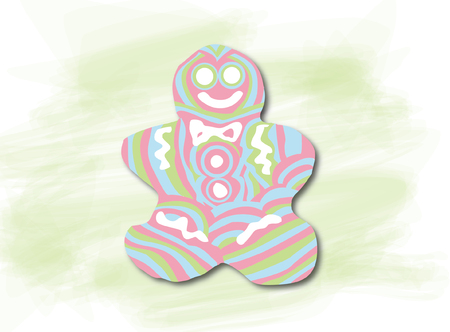 abstracted: The gingerbread man