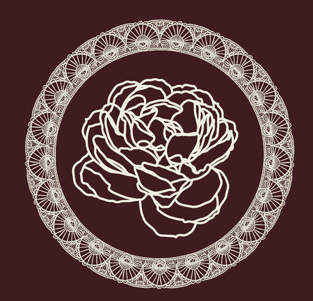 english textures: rose line drawing