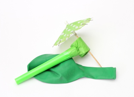 green party decoration isolated on white background photo