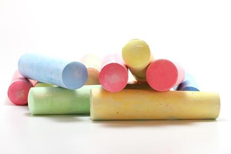 colorful chalks isolated on white background Stock Photo - 12197094