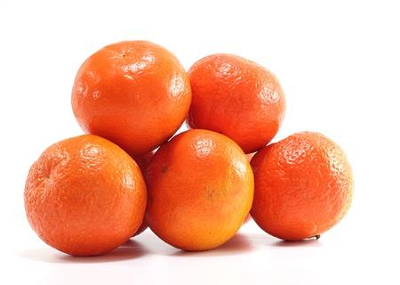 juicy mandarins isolated on white background photo