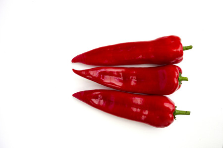 Three pointed peppers Stock Photo
