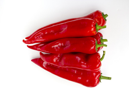 red pepper: red pointed peppers